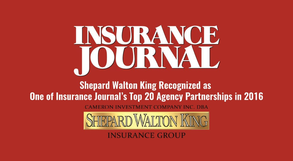 Insurance Journal's Top 20 Agency Partnerships