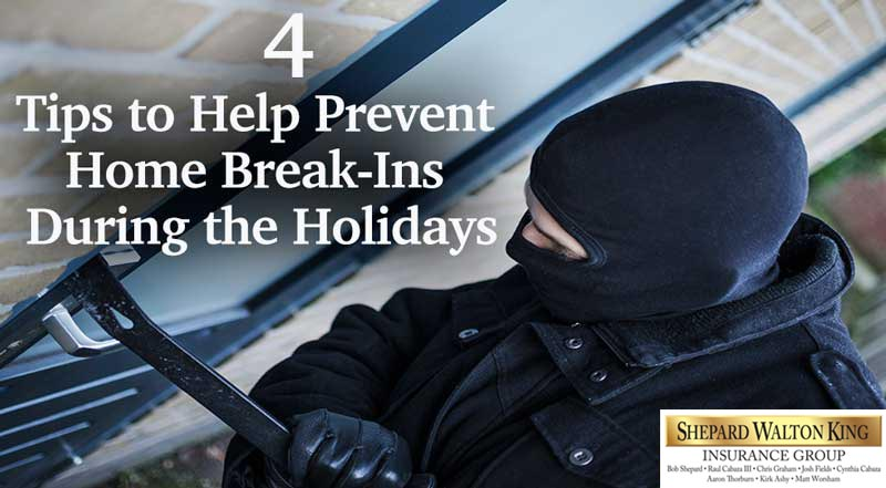 Tips to prevent home break ins