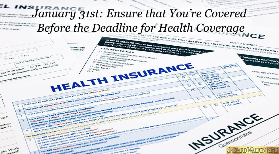 Health Coverage Deadline