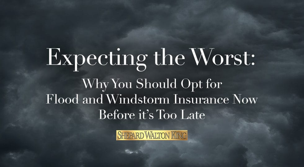 Flood and windstorm insurance