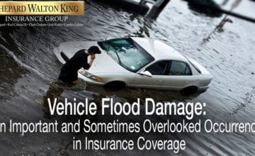Vehicle flood damage insurance